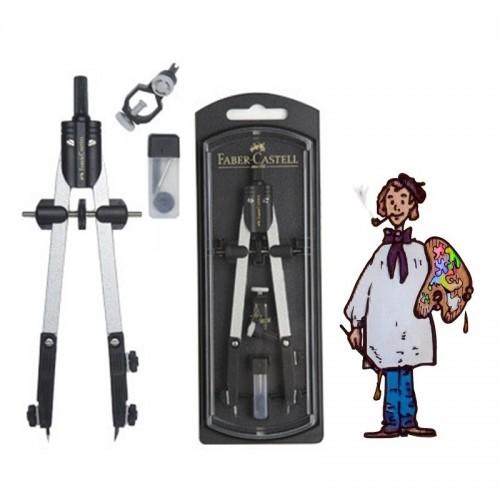Compás Faber Castell con accesorios