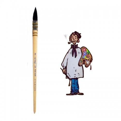 Pincel pelo de cabra redondo mango corto Van Gogh nº 2