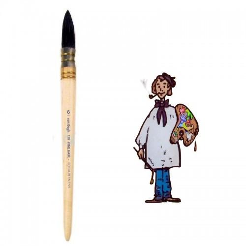 Pincel pelo de cabra redondo mango corto Van Gogh nº 6