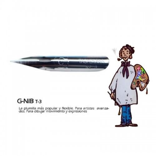 Plumilla dibujo G-TYPE Tachikawa TCK3G3 - Juego de tres.
