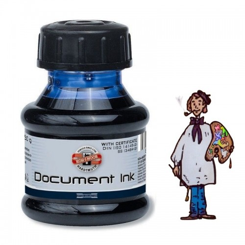 "Tinta KOH-I-NOOR 50G ""document ink"" pluma estilográfica – negro"