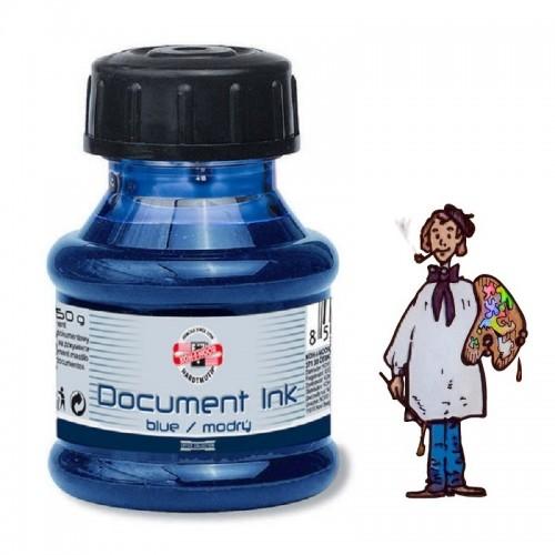 "Tinta KOH-I-NOOR 50G ""document ink"" pluma estilográfica – azul"