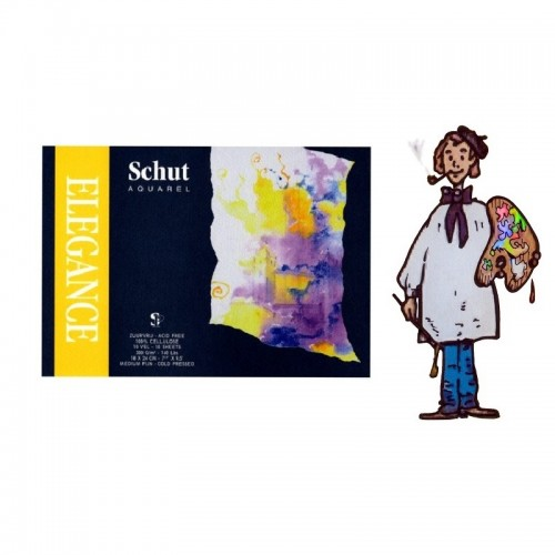 Bloc acuarela Schut Elegance 10 hojas 18x24 - 300gr