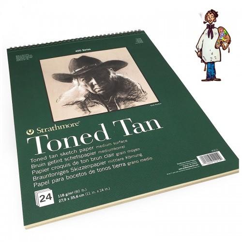 Bloc  Dibujo Strathmore Tono tierra - gra medio 118gr - 24 hojas 27.9x35.6cm