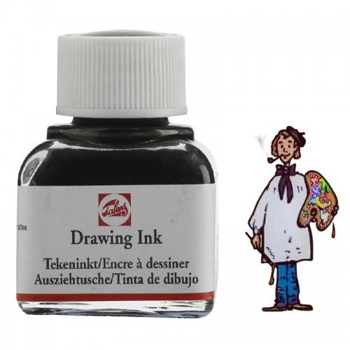 Tinta de dibujo negra frasco de 11ml.