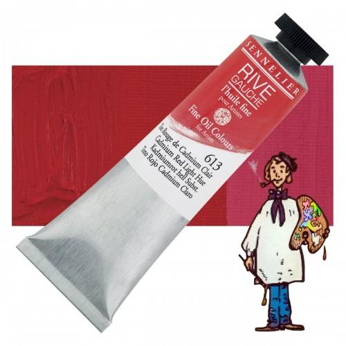 Óleo fino Rive Gauche Sennelier 40ML - Rojo Cadmio Medio T 613