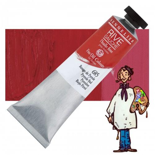 Óleo fino Rive Gauche Sennelier 40ML - Rojo Pirole  685