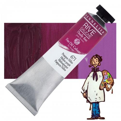 Óleo fino Rive Gauche Sennelier 40ML - Purpura Helios 671