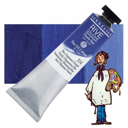 Óleo fino Rive Gauche Sennelier 40ML - Azul Ultramar Francés 314