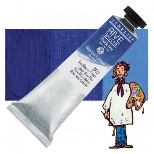 Óleo fino Rive Gauche Sennelier 40ML - Azul Cobalto T 303