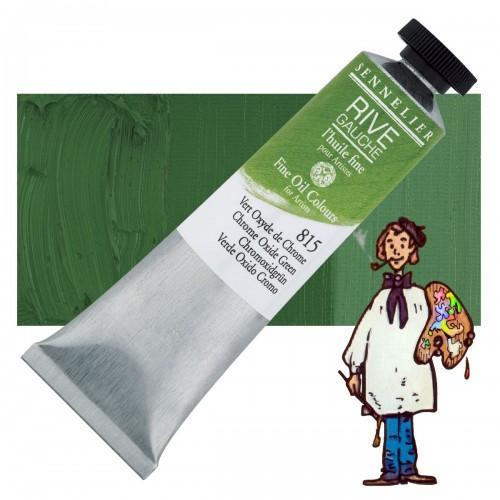 Óleo fino Rive Gauche Sennelier 40ML - Verde Oxido Cromo 815