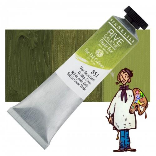 Óleo fino Rive Gauche Sennelier 40ML - Verde Stil de Grano 851