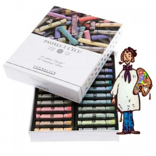 Caja cartón pastel À L'ecu Sennelier 24 pasteles paisaje
