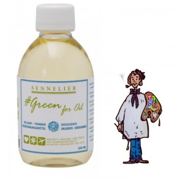 SENNELIER GREEN FOR OIL - BIO - DILUYENTE 250ML