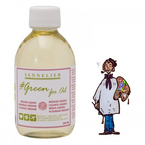 SENNELIER GREEN FOR OIL - MEDIUM LÍQUIDO BIO 250ML