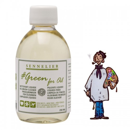 SENNELIER GREEN FOR OIL - LIMPIADOR LÍQUIDO 250ML