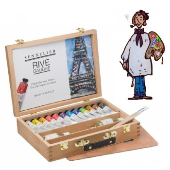 Caja maletín de madera óleo RIVE GAUCHE