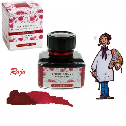 Tintero J. Herbin Rojo Perfume Rosas
