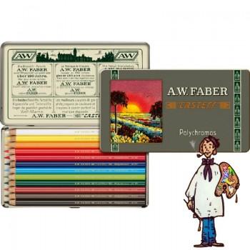 Caja metálica 12 lápices Polychromos Estuche 111 aniversario Faber Castell