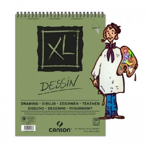 Bloc de dibujo Canson XL, A3, 29.7 x 42 cm