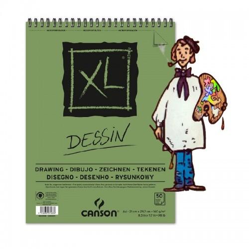 Bloc de dibujo Canson XL, A4 21x29,7 cm.