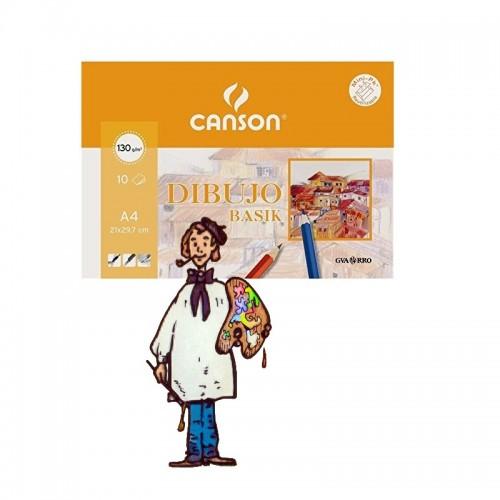 Basik Dibujo, (mini pack) 10 h., 130gr 21x29.7cm (A4)