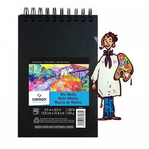 Bloc A5 Art Mix Media de Canson 224gr 40h – 13.9x21.6cm