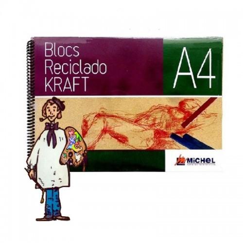 Bloc papel reciclado kraft A4