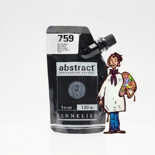ACRÍLICO ABSTRACT- 120 ML -  NEGRO DE MARTE 759