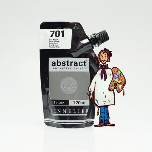 ACRÍLICO ABSTRACT- 120 ML -  GRIS NEUTRO 701