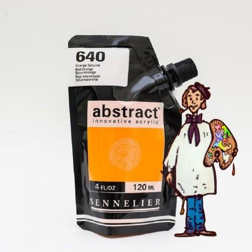 ACRÍLICO ABSTRACT- 120 ML -   ROJO ANARANJADO 640