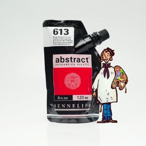 ACRÍLICO ABSTRACT- 120 ML -   ROJO DE CADMIO CLARO TONO 613