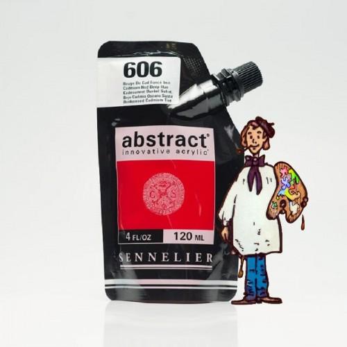 ACRÍLICO ABSTRACT- 120 ML -   ROJO CADMIO OSCURO TONO 606