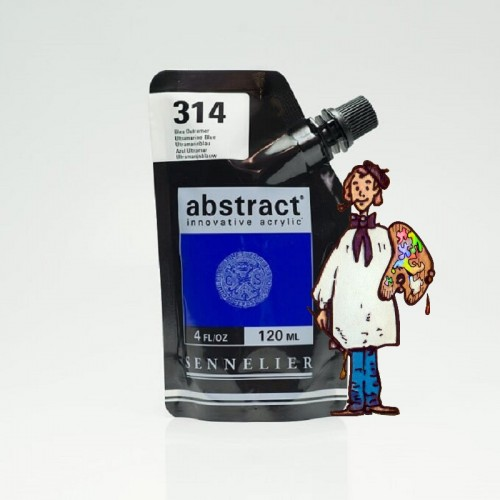 ACRÍLICO ABSTRACT- 120 ML - AZUL ULTRAMAR 314