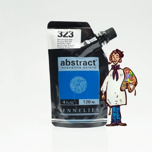 ACRÍLICO ABSTRACT- 120 ML - AZUL CERULEO TONO 323