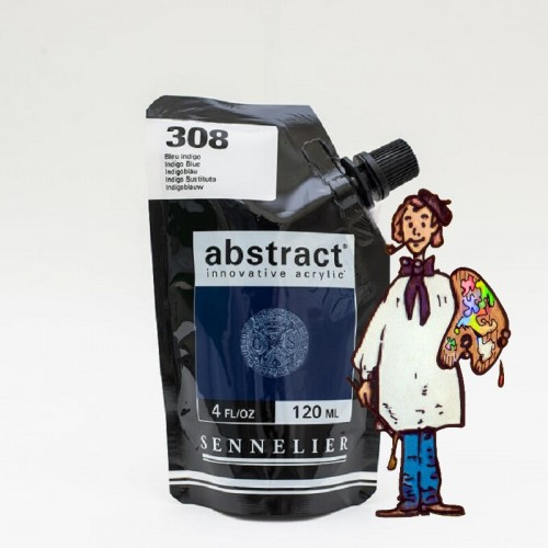 ACRÍLICO ABSTRACT- 120 ML - ÍNDIGO TONO 308
