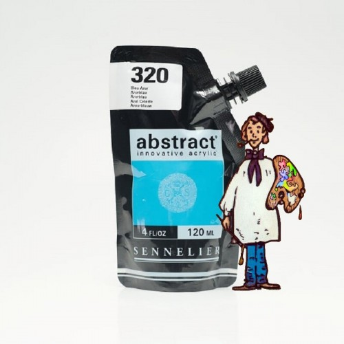ACRÍLICO ABSTRACT- 120 ML - AZUL CELESTE 320