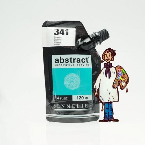 ACRÍLICO ABSTRACT- 120 ML -  TURQUESA 341