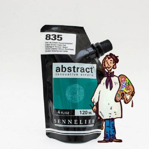 ACRÍLICO ABSTRACT- 120 ML -  VERDE COBALTO OSCURO TONO 835