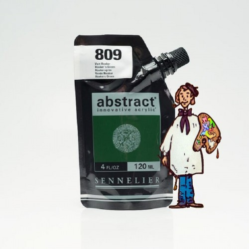ACRÍLICO ABSTRACT- 120 ML - VERDE HOOKER 809