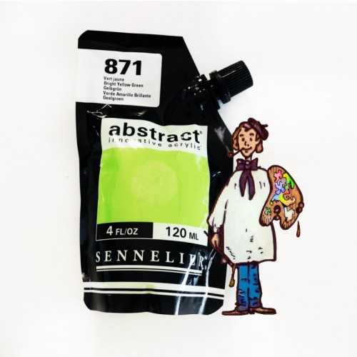 ACRÍLICO ABSTRACT- 120 ML - VERDE AMARILLO 871