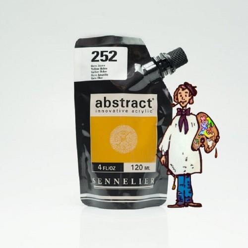 ACRÍLICO ABSTRACT- 120 ML -  OCRE AMARILLO 252