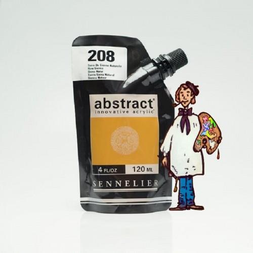 ACRÍLICO ABSTRACT- 120 ML -  TIERRA SIENA NATURAL 208
