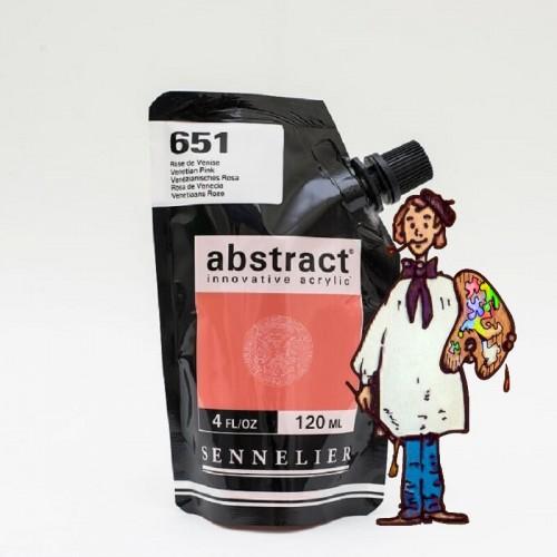 ACRÍLICO ABSTRACT- 120 ML -  ROSA VENECIA 651