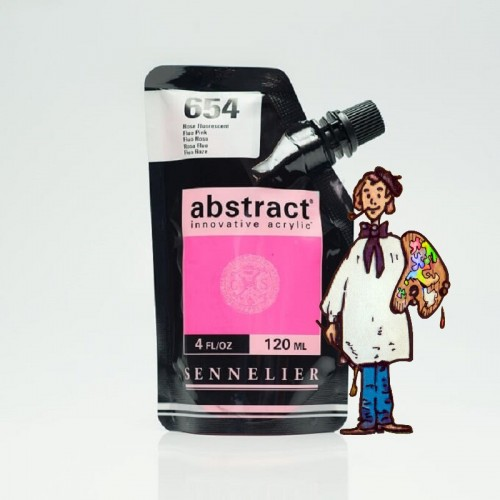 ACRÍLICO ABSTRACT- 120 ML -  ROSA FLUO 654