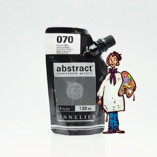ACRÍLICO ABSTRACT- 120 ML -  NEGRO IRIDISCENTE 070