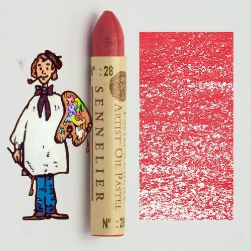 Pastel al óleo Sennelier rosa 028. Oil Pastel