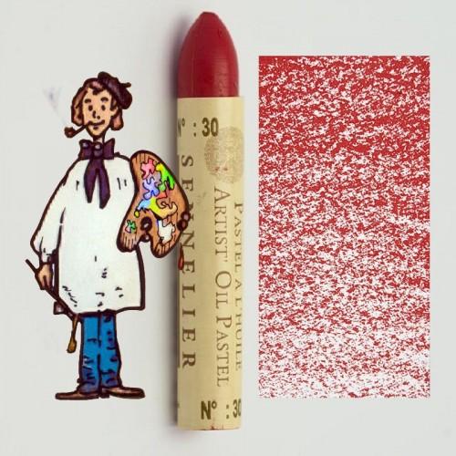 Pastel al óleo Sennelier rojo oscuro 030. Oil Pastel
