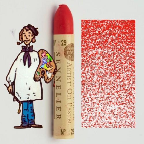 Pastel al óleo Sennelier rojo claro 029. Oil Pastel