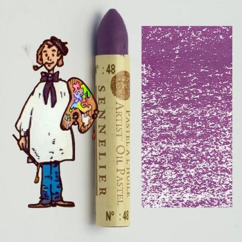 Pastel al óleo Sennelier violeta rojizo 048. Oil Pastel